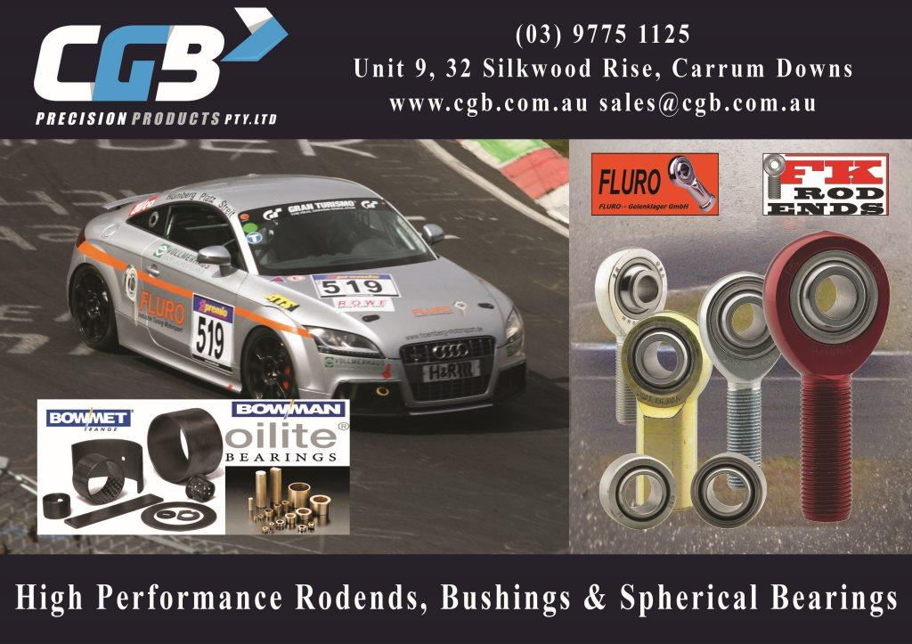 CGB Rod Ends & Spherical Bearings Motorsport Advert