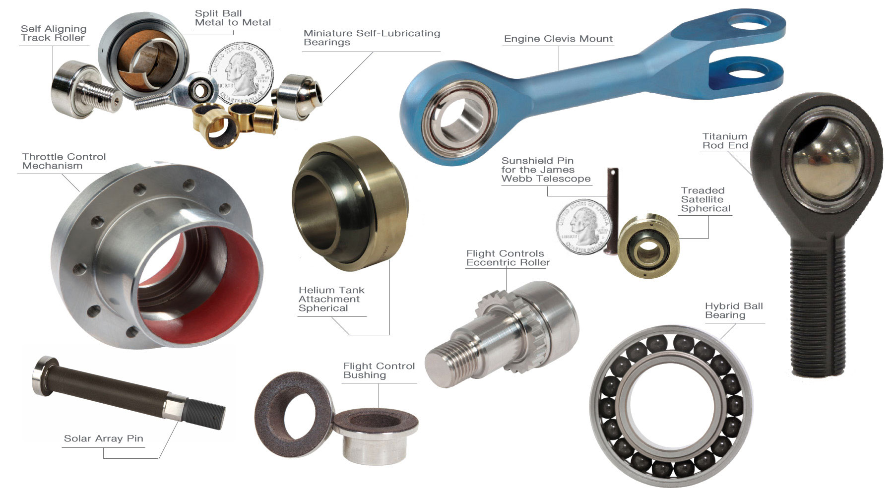 Kamatics Specialty Bearings for Space